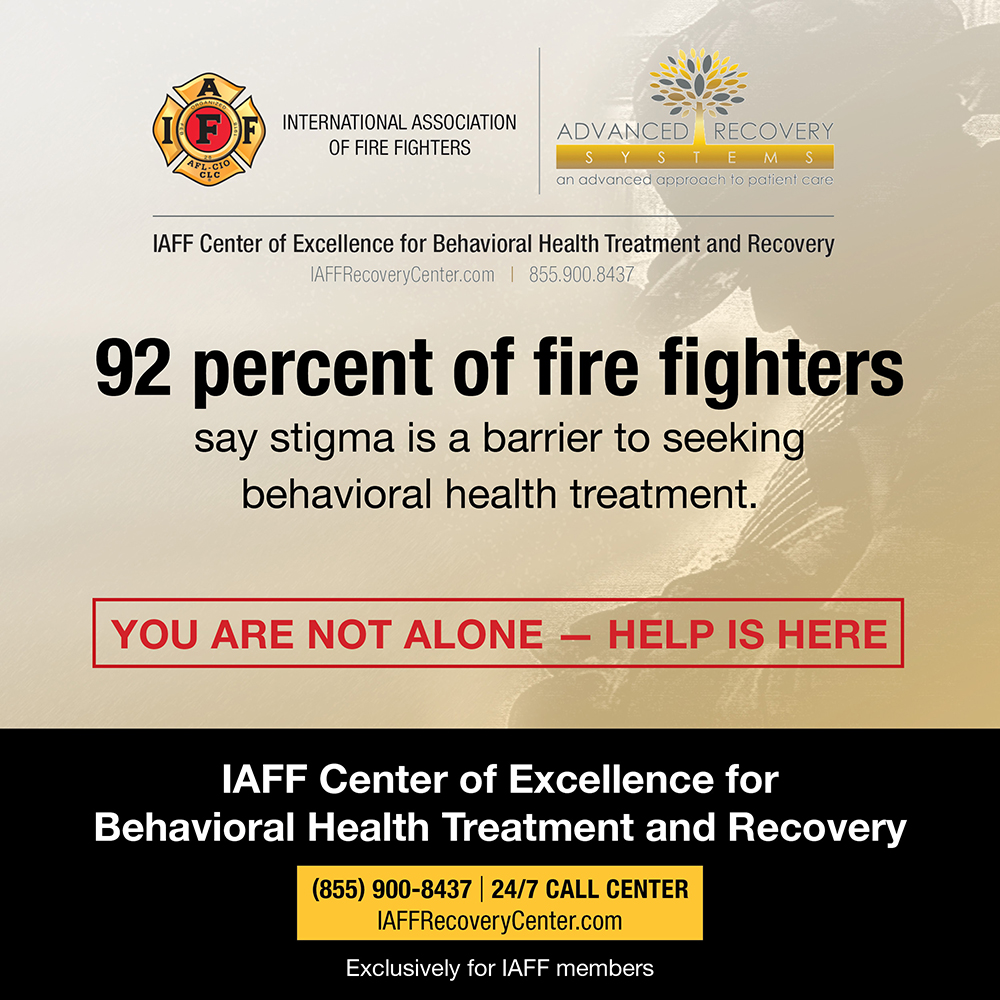 92% of firefighters say stigma is a barrier to seeking behavioral health treatment