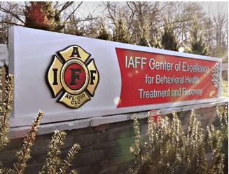 IAFF sign outside of the facilitly