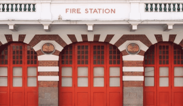 outside view of a fire station