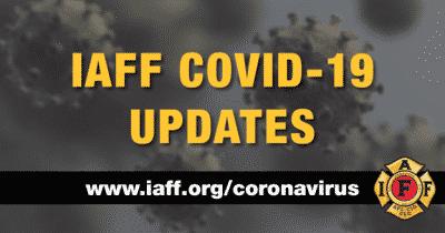 IAFF Covid-19 banner