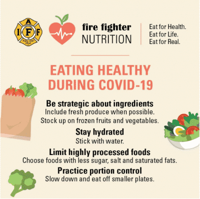 Infographic of ways to eat healthy during COVID-19