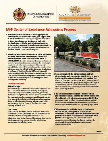 IAFF Admissions Process flyer