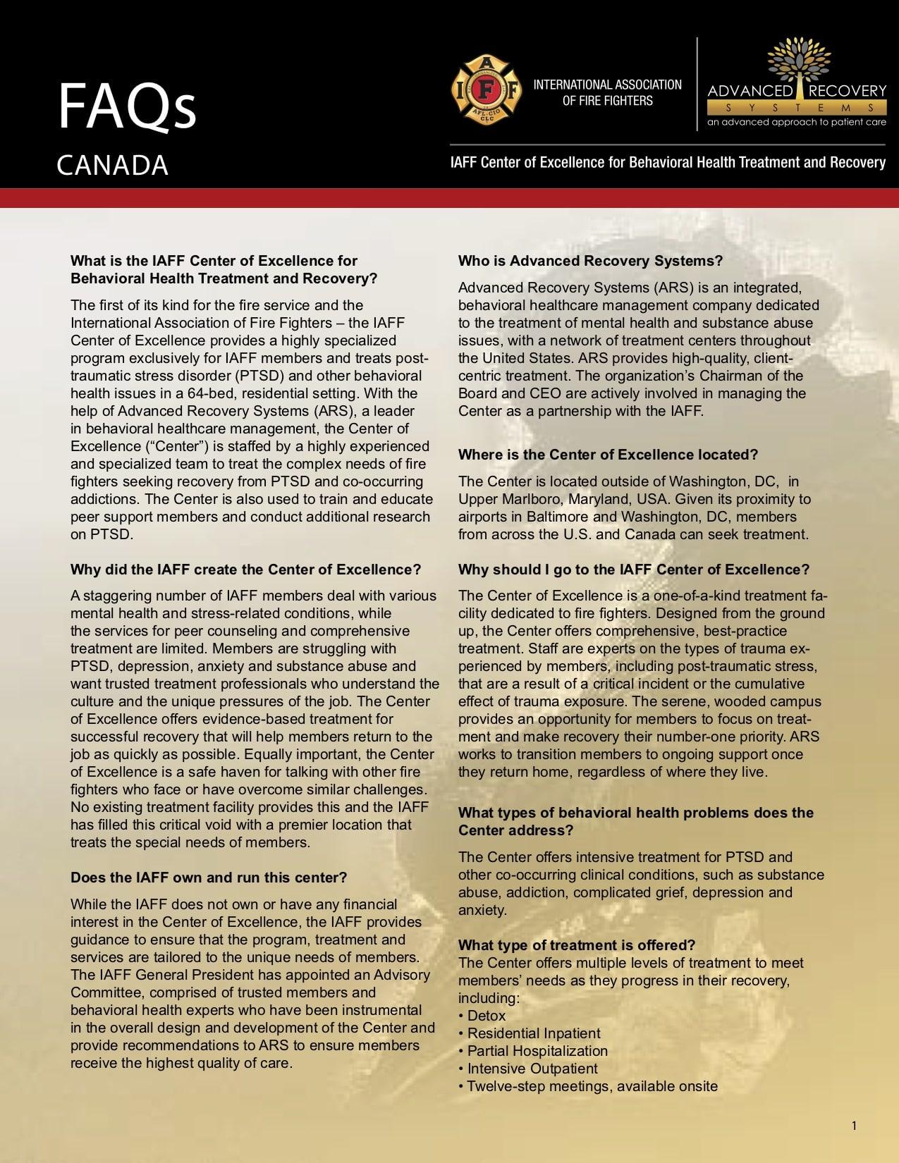 FAQs (Canada)